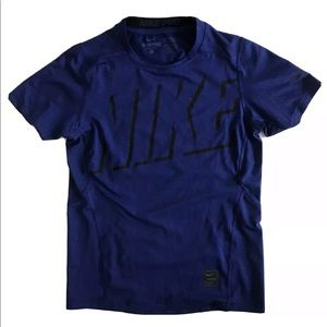 Nike Pro Dri Fit Fitted Shirt, Boys blue size M
